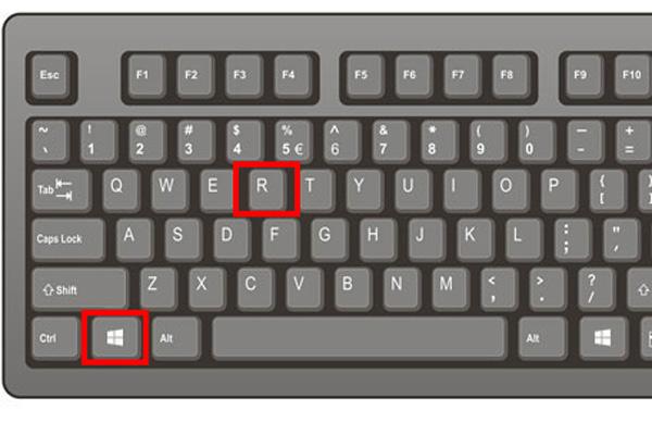 キーボードでwin+R