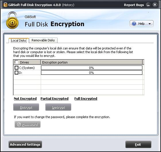 GiliSoft Full Disk Encryptionソフト