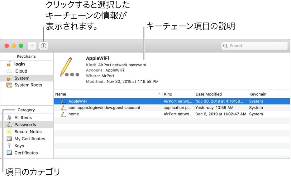 Macでキーチェンを使ってパスワード管理