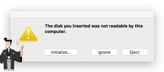 Macが外付けHDDを認識しない