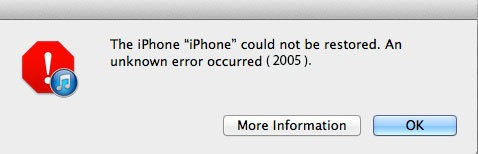iTunesエラー2005